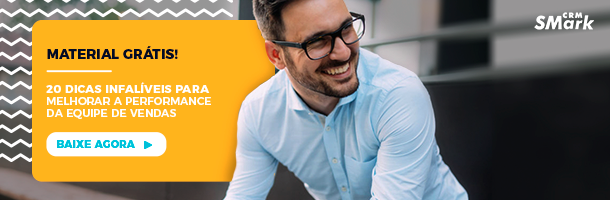 Material grátis: 20 dicas infalíveis para melhorar a performance da equipe de vendas. Baixe agora!